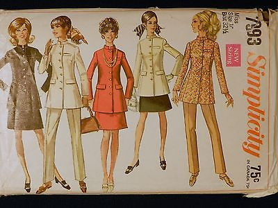 Vtg #1960s #simplicity 7993 nehru jacket skirt #pants suit sewing pattern sz 10,  View more on the LINK: http://www.zeppy.io/product/gb/2/301805996739/