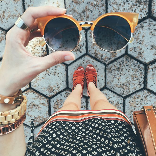 Fashion Coolture: Vintage Inspired Round Circle Cat Eye Sunglasses 8785
