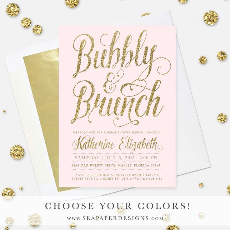 71 best images about bridal shower invitations on for Champagne brunch bridal shower