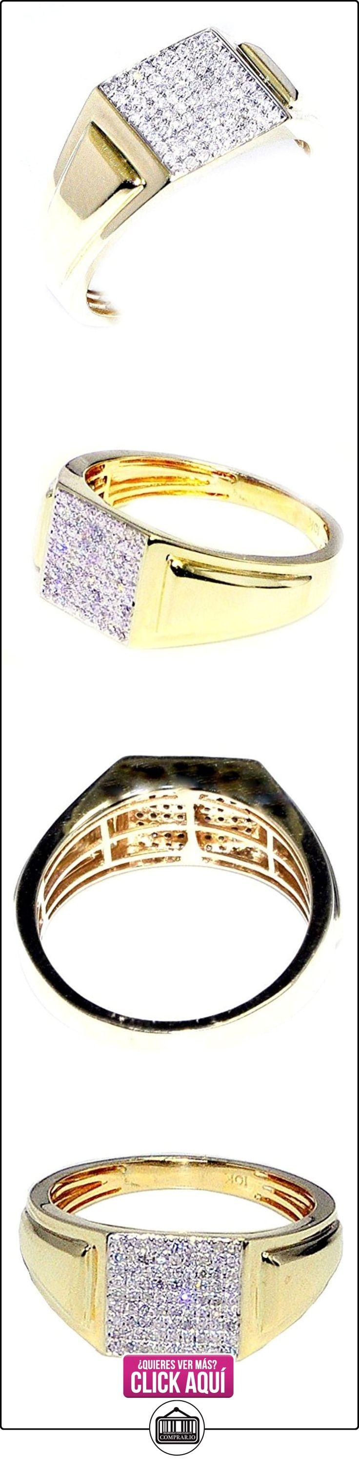 Midwest joyería hombres del anillo de diamante 10K oro 1/4cttw moda PINKY anillo 10mm de ancho (I/J color 0,26quilates)  ✿ Joyas para hombres especiales - lujo ✿ ▬► Ver oferta: https://comprar.io/goto/B00SDMAO08