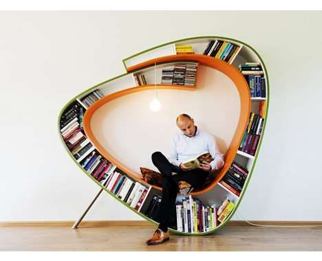 100 Curiously Contemporary Bookshelves - From Batty Book Organizers to Crazily Hostile Bookcases (TOPLIST)