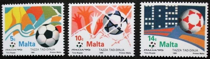 World cup football championship in Italy stamps 1990, Malta, SG ref: 876-878 MNH