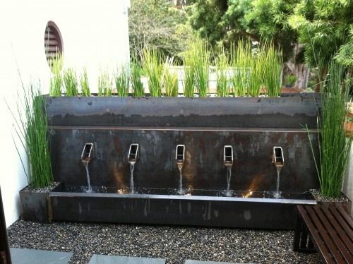 fountain small garden