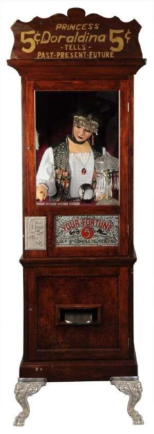 http://psychic.digimkts.com So much fun. 24/7: 855-976-3061 Princess Doraldina fortune teller machine - 5 cents! ( Fortune Teling Machine / Mechanical Fortune Teller / Circus / Fair / carnival / antique / vintage / psychic reading )