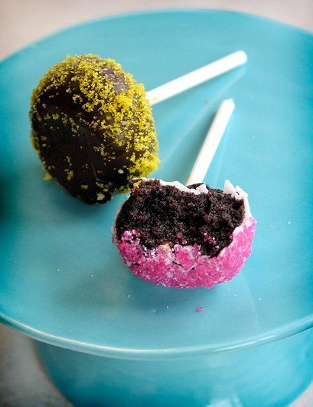 How To Make Cake Pops--I like these instructions because they are from scratch instead of starting with a box mix or store bought icing.