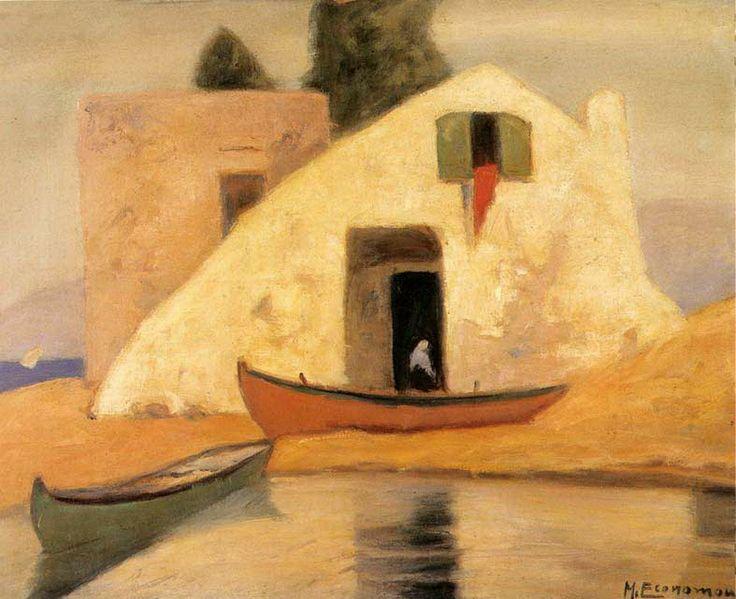 .:. Οικονόμου Μιχαήλ – Michail Oikonomou [1888-1933] Σπίτι με βάρκες 3