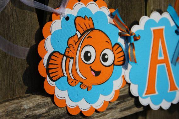 Finding Nemo Birthday Banner - Personalized
