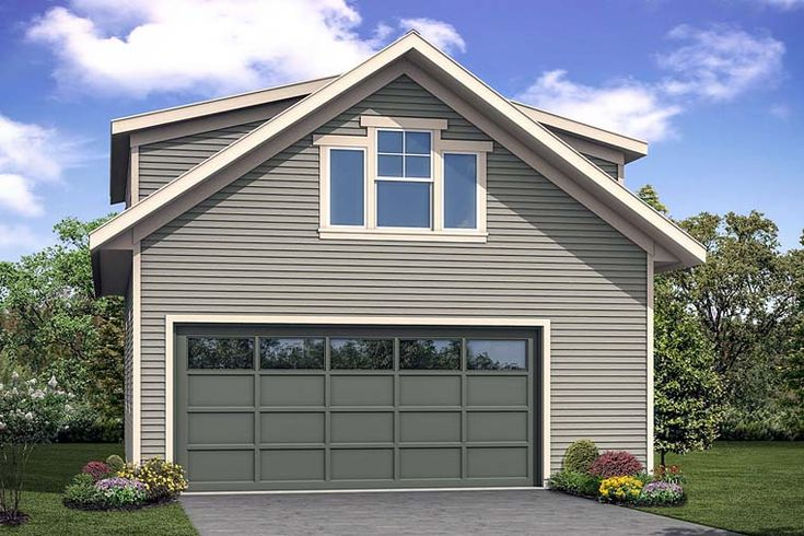 Traditional Style 2 Car Garage Apartment Plan Number 41281 ...