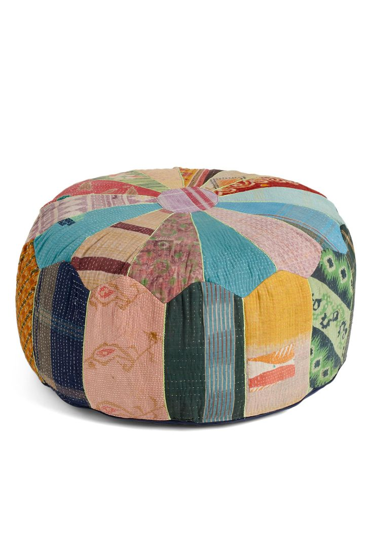 I could use a couple of these Patchwork from Home Pouf, @ModCloth