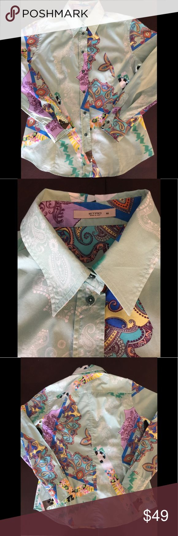 ETRO Italy lady's button down shirts size 46 Paisley button down shirts size 46 Like brand new  Very good condition Etro Tops Button Down Shirts