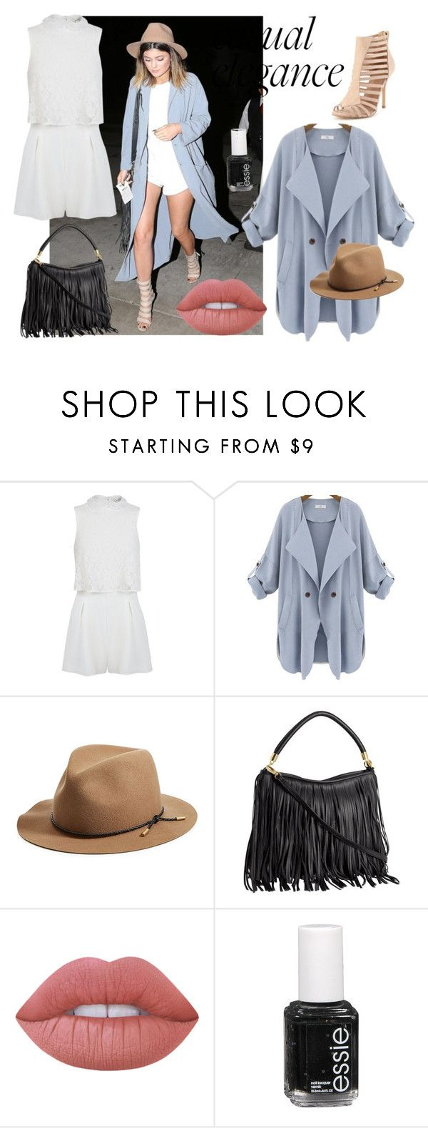 """Shop the look - kylie jenner"" by shop-styleloft on Polyvore featuring Miss Selfridge, rag & bone, Lime Crime and Essie"