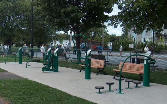 Landscape Structures HealthBeat Outdoor Fitness Equipment  Pard St. Joseph, Montreal