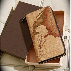 2013 tops cotton Free shipping The new summer  map wallet with box special $19.00