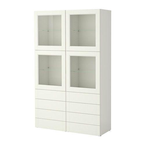 BESTÅ Storage combination w doors/drawers - Vassbo white - IKEA