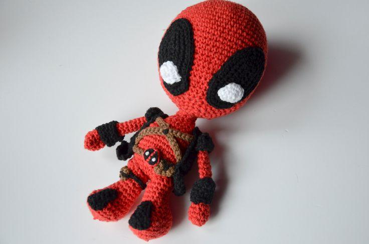 Deadpool Crochet PATTERN - Marvel superhero / villain X-man volwerine comic movie tutorial by Krawka (20.00 PLN) by Krawka