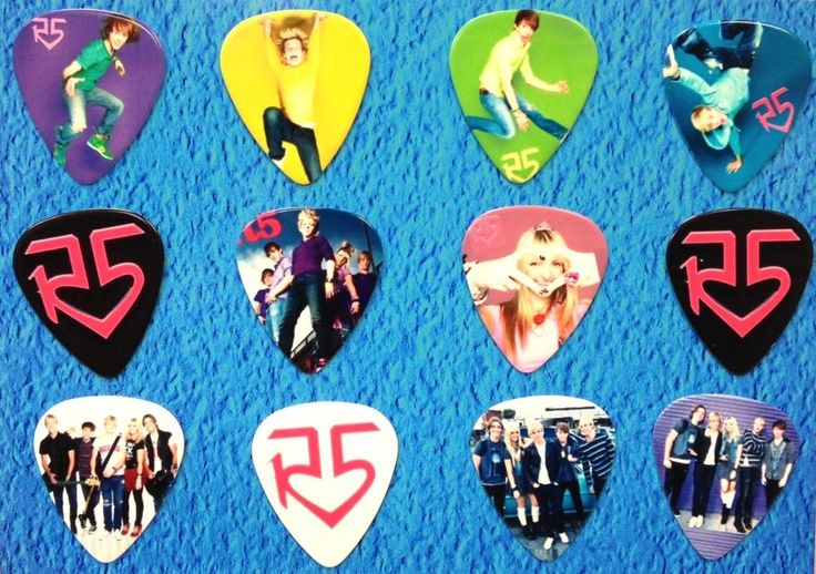 R5 Band -Ross Lynch- Guitar Picks - Set of 12 i want them so badddd