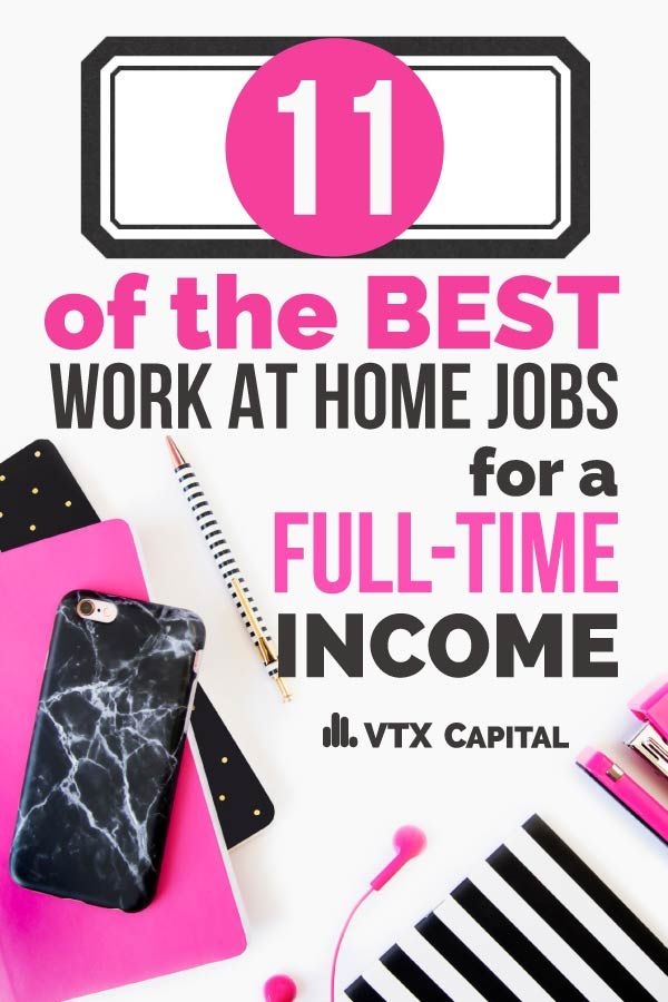 11 Legitimate Work from Home Jobs for Moms That Require No Experience to Start! Most provide for a full time income and some even come with GREAT benefits!