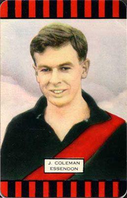 John Coleman 'Coles' card from 1954. Legend!