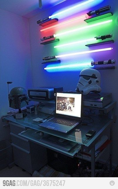Epic Office!  If I ever have a home office again this would be awesome!  Though I would most likely never get Bowen out of it...
