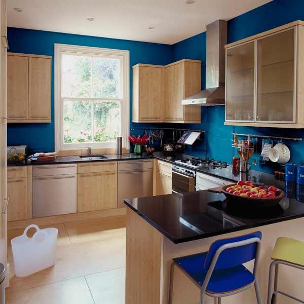 56 best kitchen paint wallpaper ideas images on pinterest for Blue kitchen wallpaper