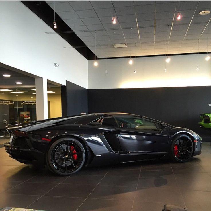 Lamborghini Aventador Roadster painted in Nero Aldebaran  Photo taken by: @Justinhelsene on Instagram