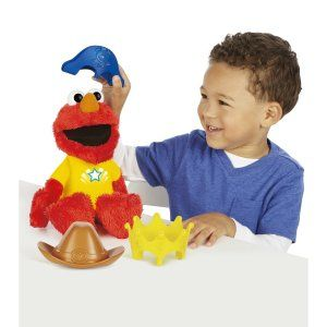 Playsshool Sesame Street Let's Imagine Elmo Elmo the pirate, cowboy or king will count to twenty with your child.  http://awsomegadgetsandtoysforgirlsandboys.com/cool-toys-toddlers/