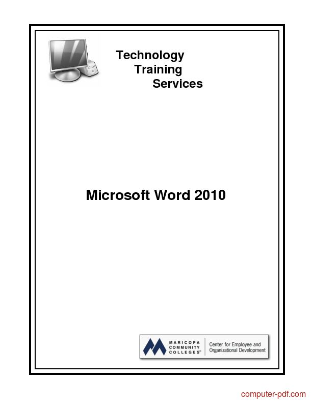 Download free tutorial Microsoft Word 2010 course material and training (PDF file 266 pages)