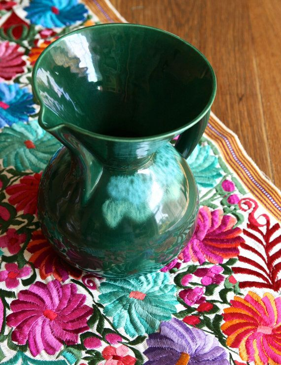 Vintage California pottery pitcher by FlowerPowerNation on Etsy, $45.00