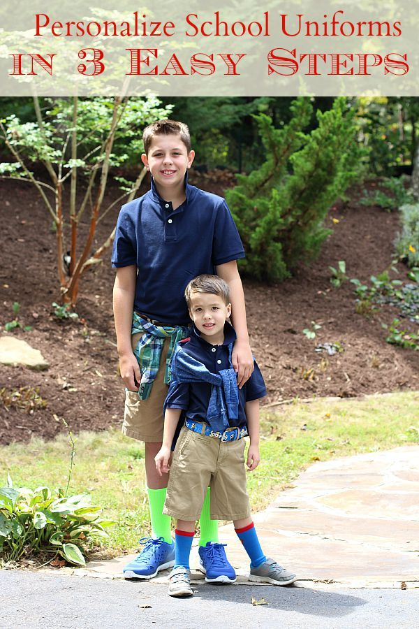 Think school uniforms have to be boring? Think again!  Then check out how we personalize our school uniforms in three easy steps with help from @Target! #TargetBTS2015 #ad