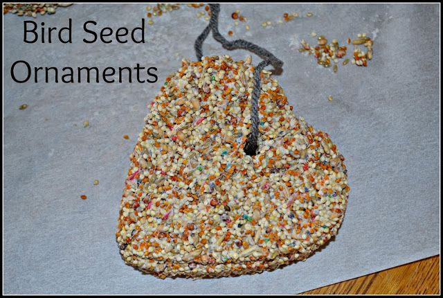 Winter Craft for Toddlers:  Bird Seed Ornaments #crafts #preschoolers  Crafts for Preschoolers
