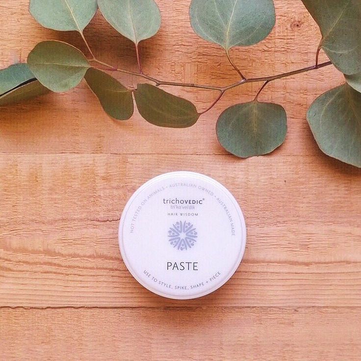 A humidity proof pliable paste- Use to smooth hold shape piece and spike. #trichovedic #hairwisdom #luxuryhaircare #paste