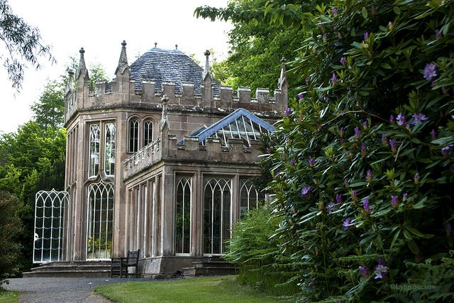 Camellia House conservatory on the Culzean Castle grounds in Scotland.