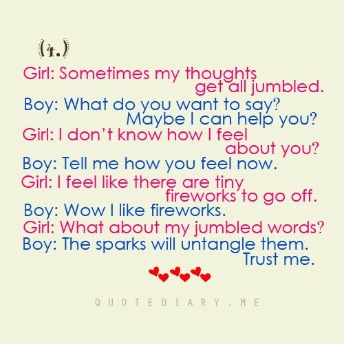 Boy Girl Conversations About Love quotediaryofficial: Boy & Girl ...