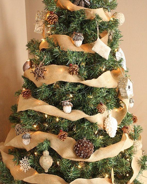 Burlap Christmas Tree Ribbon  Burlap Ribbon  by AJRUSTICCREATIONS