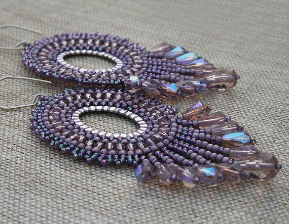 chandelier earrings boho earrings dangle earrings by koralikowyraj. #Earrings, #chandelierearrings