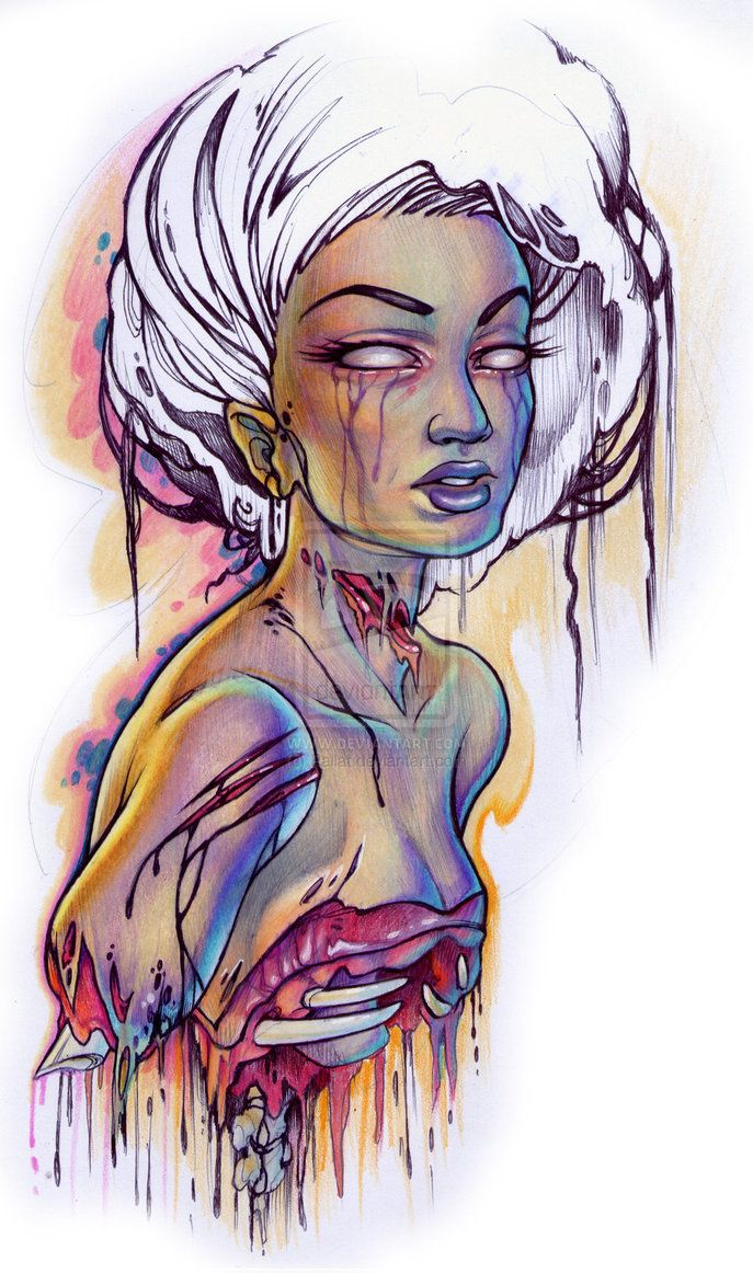 zombie pin up by ~Pallat on deviantART. Totally in love w this one!!!!!!