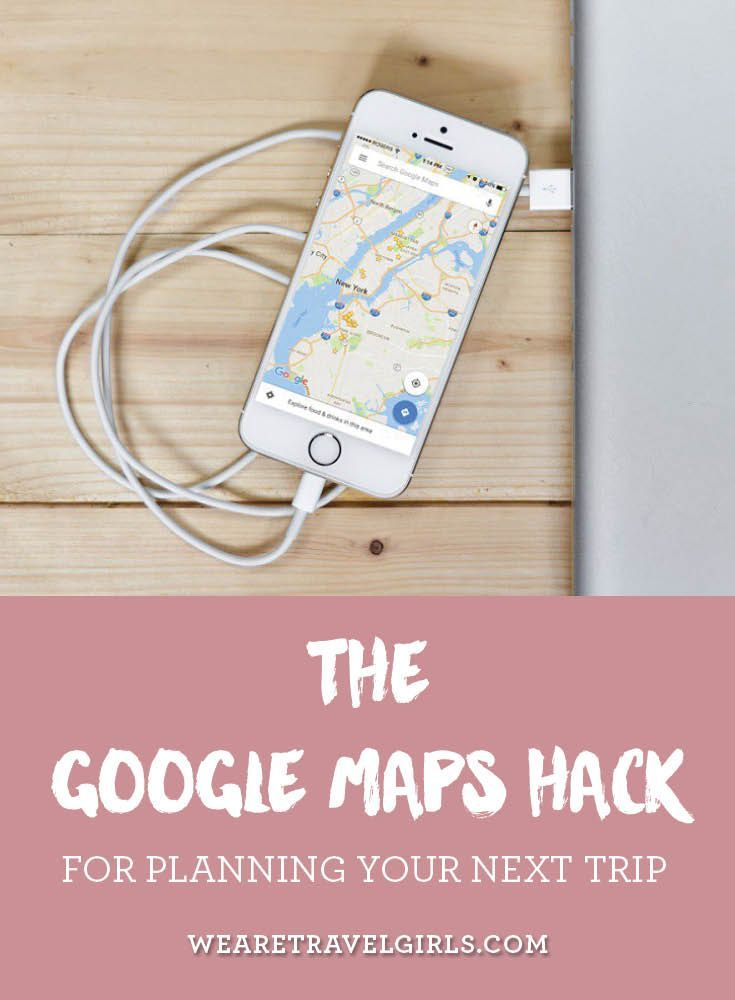 THE GOOGLE MAPS HACK FOR PLANNING YOUR NEXT TRIP One of my favorite parts of a trip is the actual planning of where we'll stay, eat and shop while we're there. Going to a new city without any knowledge of the different areas can be really intimidating. It's hard to decide on where to stay, and what restaurants and activities are easily accessible from each location. Is it a walking neighborhood or will you need to take public transportation? Is it safe to head out for an early morning run…