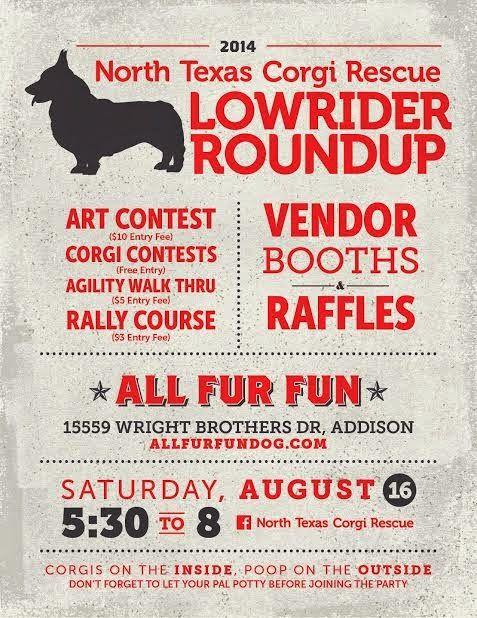This Saturday, 8/16: The 2014 North Texas #Corgi Rescue Roundup!