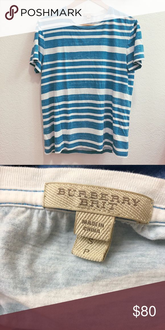 👕 Burberry T-Shirt Preowned Burberry T-Shirt. Fit for both women and men, great condition!! Burberry Shirts Tees - Short Sleeve