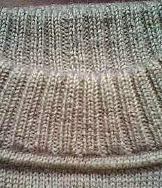 Модели вязания: Как сделать такой аккуратный воротник свитера. Мастер-класс в фото