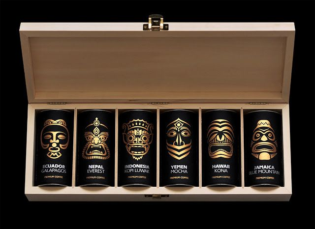 Exotic coffee collection by Paradise. Gourmet-club on Packaging of the World - Creative Package Design Gallery