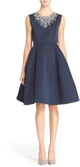 Kate Spade New York 'cambria' Embellished Fit & Flare Dress