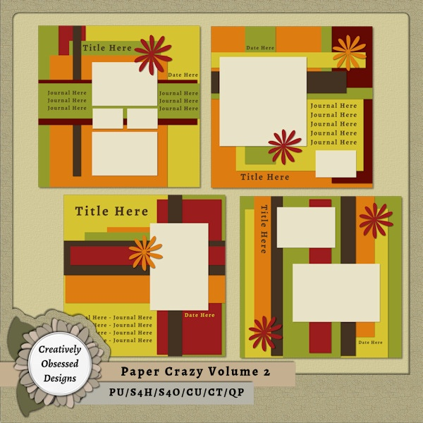 79 best 12x12 digital scrapbook templates images on pinterest paper crazy volume 2 12x12 pronofoot35fo Gallery