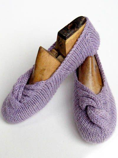 Knotted Slippers. Para estar en casa el fin de..
