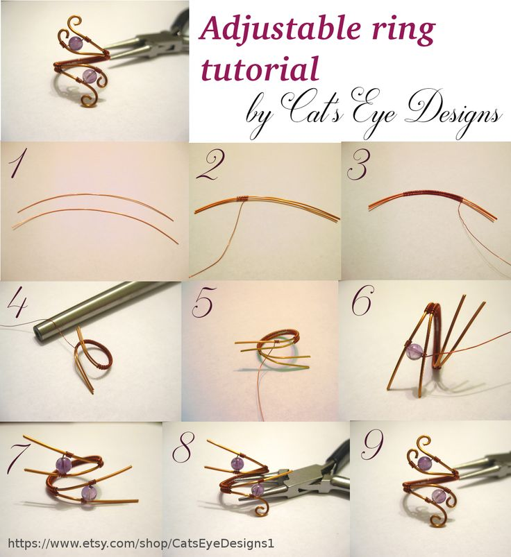 #Free #wire #WireWrapped #AdjustableRing #ring #tutorial #jewelry #diy. Visit my Etsy store! https://www.etsy.com/shop/CatsEyeDesigns1