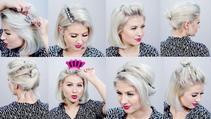 Hairstyles For Short Hair Milabu : ... half up hairstyles for short hair milabu youtube see more by milabu