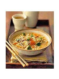 The aromatic Asian flavors in this main-dish soup are a welcome change from traditional chicken noodle.