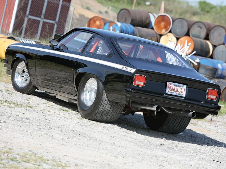 Wouldn't mind one but just for a sleeper car....Chevy Vega Car | 1974 Chevy Vega Two Stage PPG Black