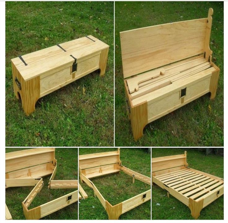 Bed in a Bench