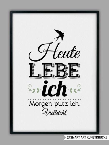 """Original Print – """"HEUTE ICH LEBE"""" Kunstdruck – ein Unikat von Smart-Art-K …   …"""
